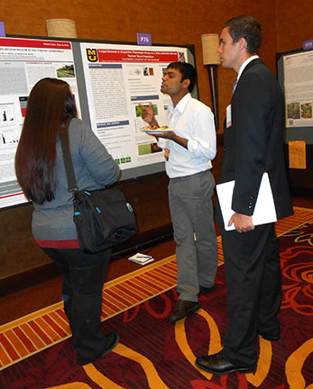 Surya discusses his poster entitled