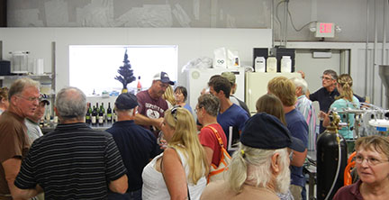 The group enjoyed tasting the MSU wines.
