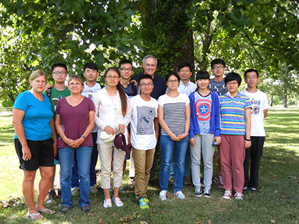 The Wine School of Ningxia University Group with instructors including Dr. Anson Elliott, Dr. Wenping Qiu, Susanne Howard and myself.
