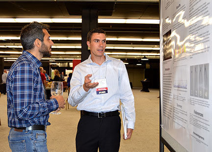 """Logan Duncan presented a poster entitled """"Genetic Analysis of Dormant Rooting Potential in Vitis aestivalis-derived 'Norton' Grape"""""""