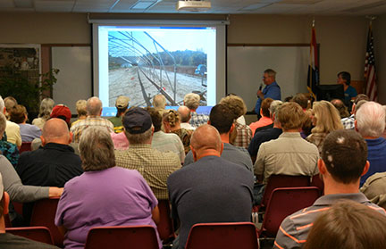 Norman Kilmer of Morgan County Seed presented information on high tunnel construction.
