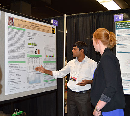 """Surya Sapkota presented a poster entitled """"Genetic Study of Downy Mildew Resistance in Vitis aestivalis-derived 'Norton' Based Population"""""""