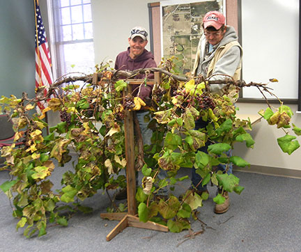 Thanks to Jeremy and Randy for setting up the grapevine. It was nice to have a vine to refer to during the lecture.