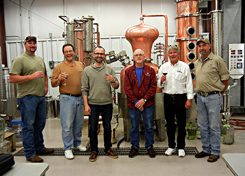 Our distillation workshop grads with their instructors.