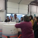 Dr. Kaps gives a winery tour