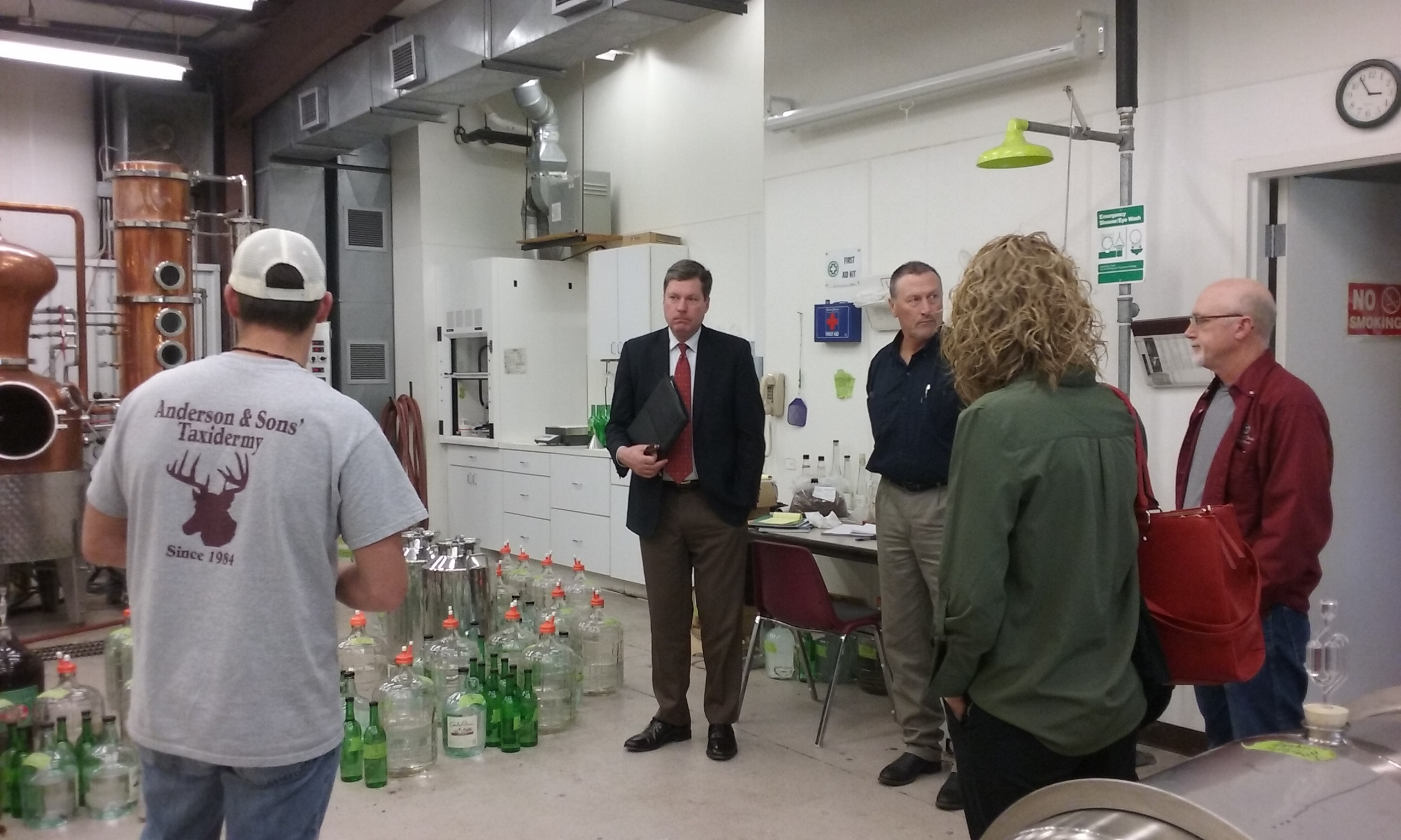Dr. James Baker, Dr. Erin Parrish and Thomas Downs, Esq. Visit the Fruit Station