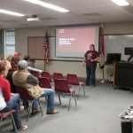 Katelyn presents about the Darr School of Ag