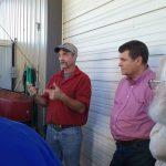 C.J.  explaining the process and Mr. Jim Bellis listening