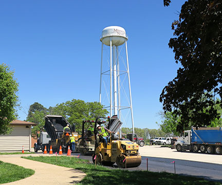 Work continues on the new parking lot at the Mountain Grove Campus.