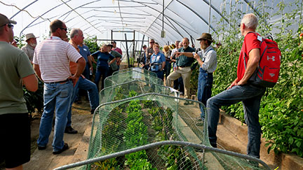 Curtis Millsap Of Millsap Farm in Springfield talked about producing crops in high tunnels.