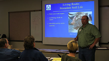 Drexel Atkisson of the NRCS gave a presentation on soil health.