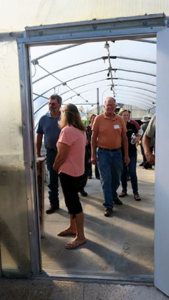 We ended the day with a tour of the greenhouse demonstrations that included basil, ginger, tomatoes and eggplants in grow bags. We ended the day with program evaluations and drawing for door prizes.