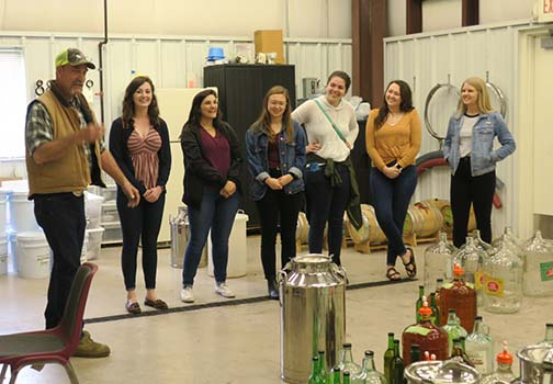 After introductions at Faurot Hall, the grad students toured the distillery.