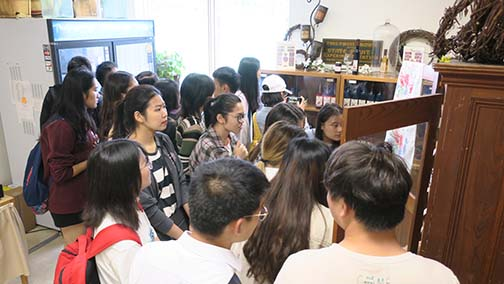 The students went to the sales room to look at our products and to meet Pam Turner and Leslie Akers, our administrative staff and sales managers.