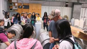 The winery tanks and bottling line are discussed