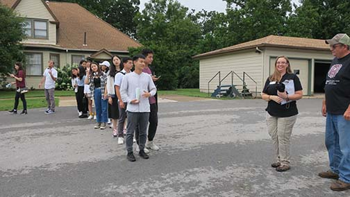 Once the field tour was complete, the large group was divided into two smaller ones