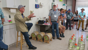 Dr. Karl Wilker answers questions about the wine making process