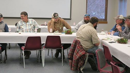 The ranch personnel enjoyed the meal. (photo by C. J. Odneal)