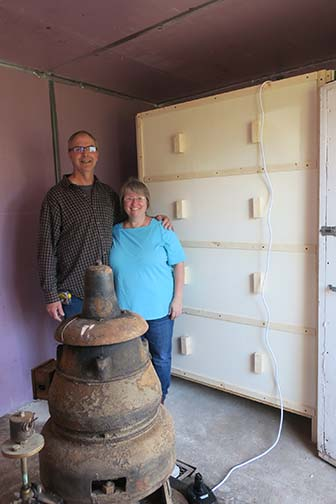 Bob and Wendy completed assembling the portabella unit on March 26. It looks great!!