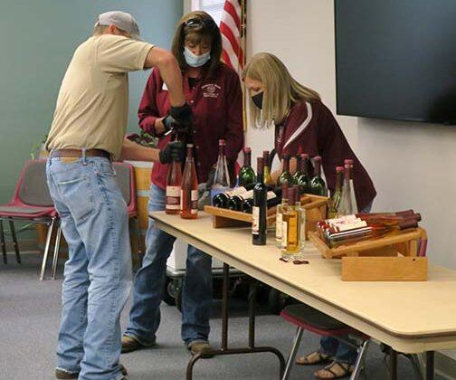 Jeremy, Shelia and Pam ran the wine tasting.
