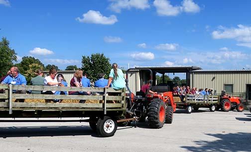 The hay ride was led by Jennifer Morganthaler and Susanne Howard.