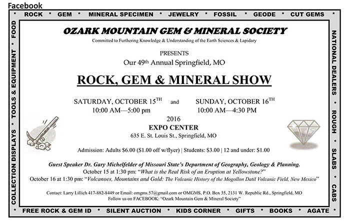 Geology professor speaking at the Ozark Gem and Mineral Show