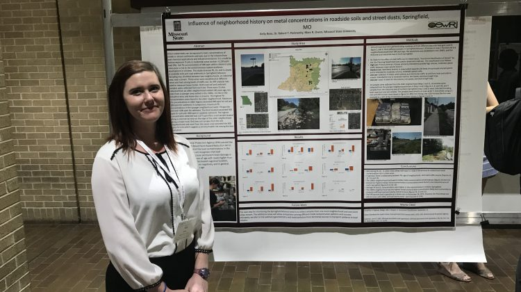 Where were Grad Students presenting their posters?