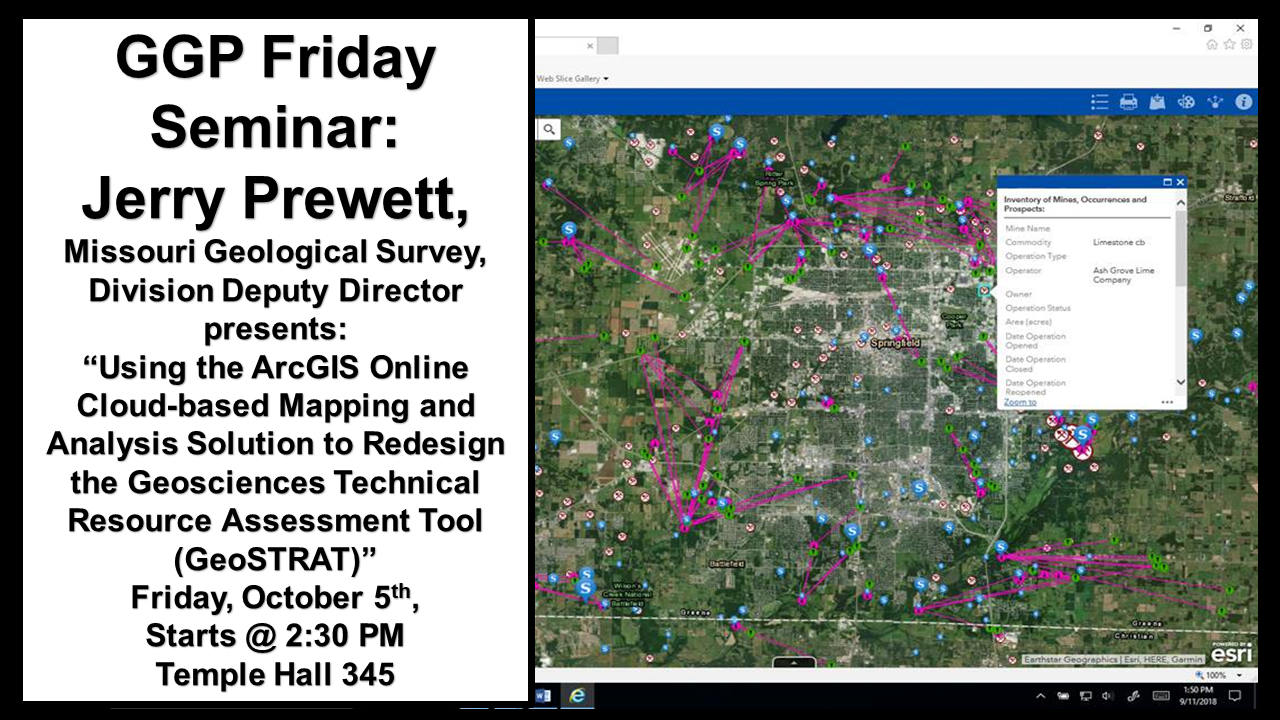 Missouri Geological Survey Division Deputy Director Seminar on GeoSTRAT and ArcGIS