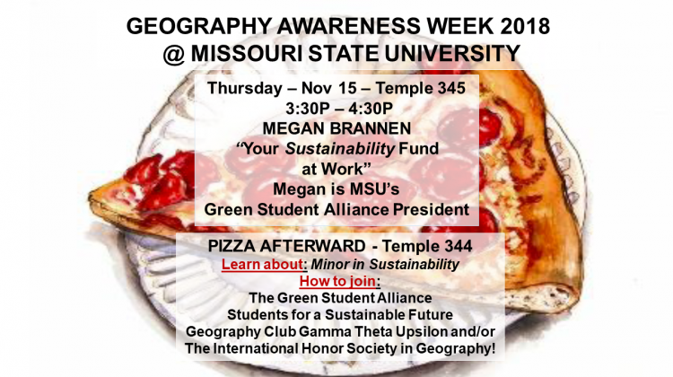 Green Student Alliance at Missouri State University, become a member!