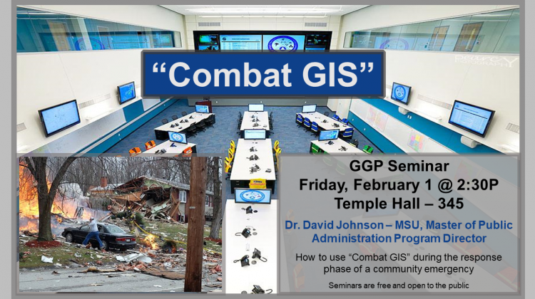 "A presentation on how to use ""Combat GIS"" during the response phase of a community emergency."