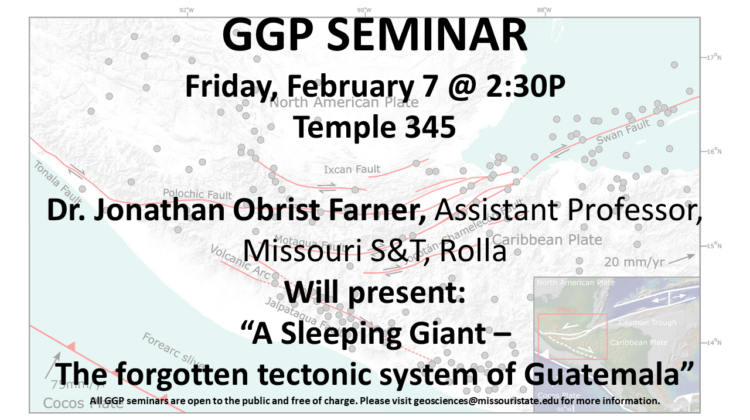 Seminar on a potentially troublesome tectonic system Friday February 7 Temple Hall 345 2:30P to 3:30P free and open to the public