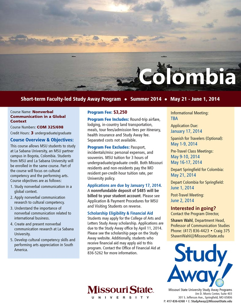 Colombia Study Away