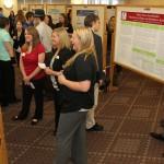 Crowd mingling at Graduate Interdisciplinary Forum