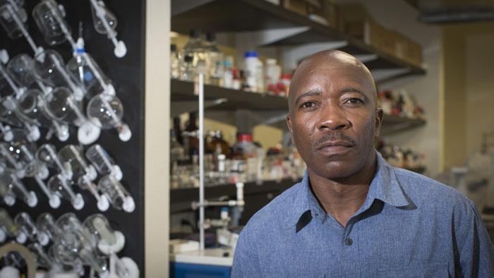 Dr. Wanekaya in a lab.