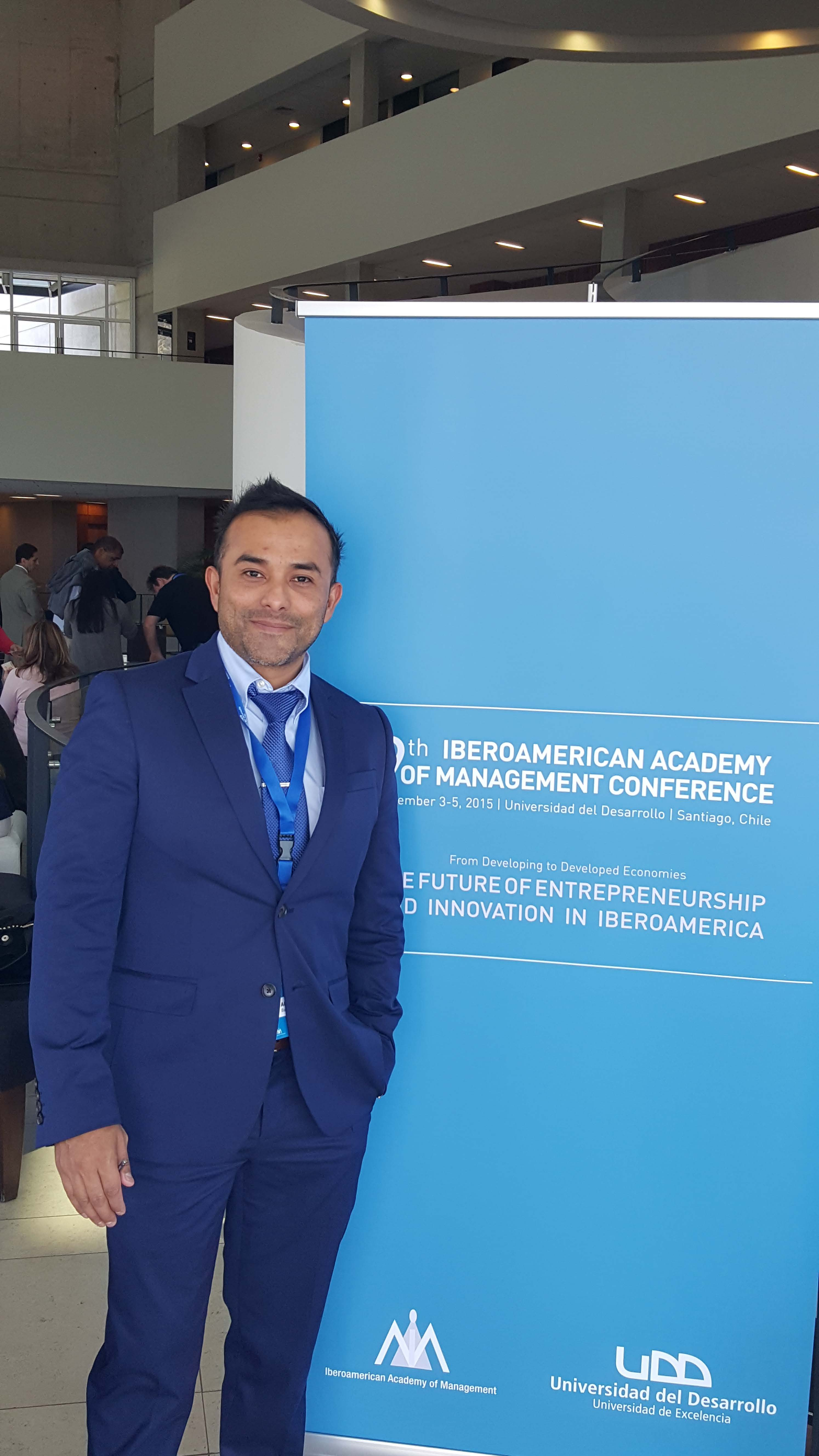 Dr. Barreda presents research at Iberoamerican Academy of Management Conference