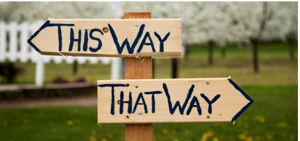 This Way That Way sign