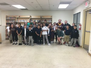 A group photo of our Bear Breaks team and the 3rd - 5th graders at Wesley-Rankin.