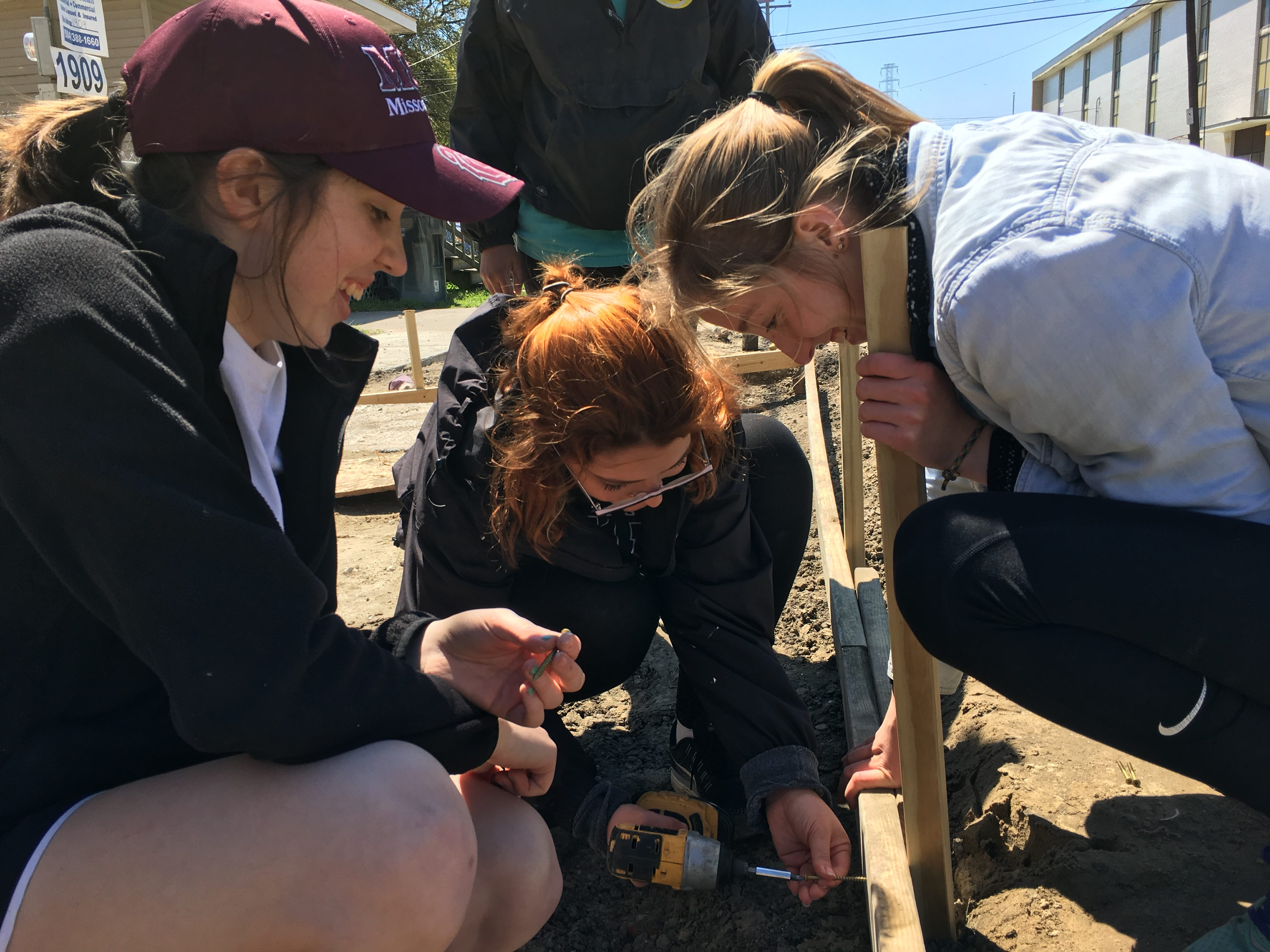 First Day Building with Habitat in NOLA – Michaela Goldsmith