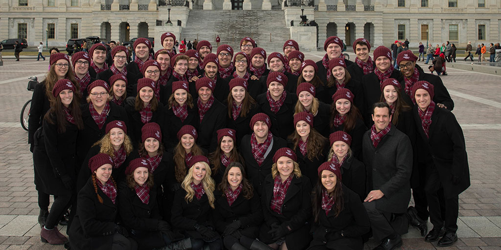 MSU Chorale dressed for inauguration