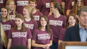 The Chorale expresses their surprise after being chosen to perform at the inauguration
