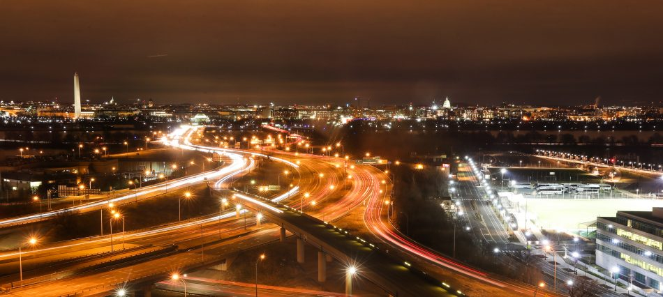 D.C. at night