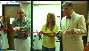 Dean Adams, Sara Gwin, President Cofer