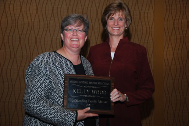 Dr. Kelly Wood for receiving the Outstanding Advising Award presented by the National Academic Advising Association (NACADA)
