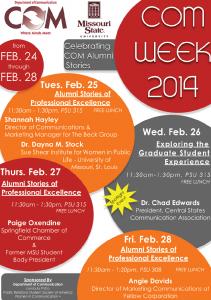 Com Week Flyer