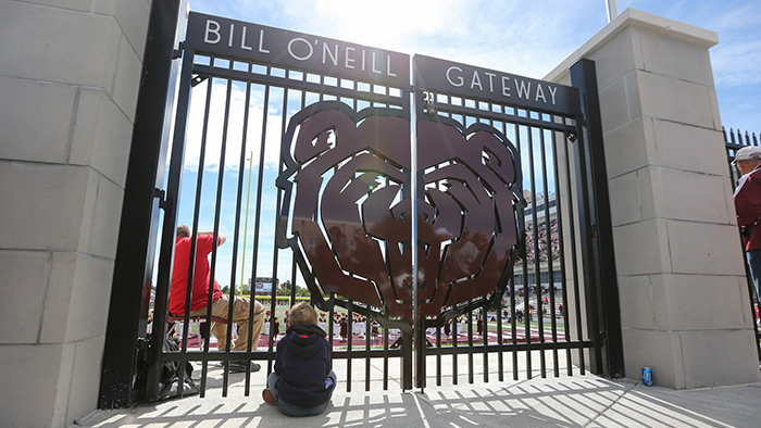 Gates outside a Missouri State football game