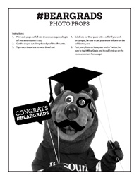 Celebrate commencement with #BearGrads printables