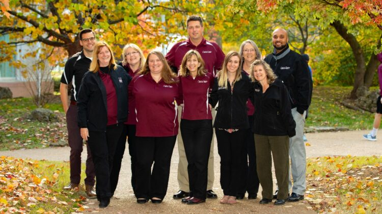 Dr. Kelly Rapp with fellow Career Center staff.