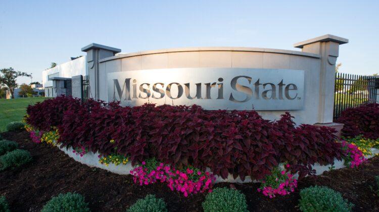 Missouri State plaque on the university's Springfield campus.