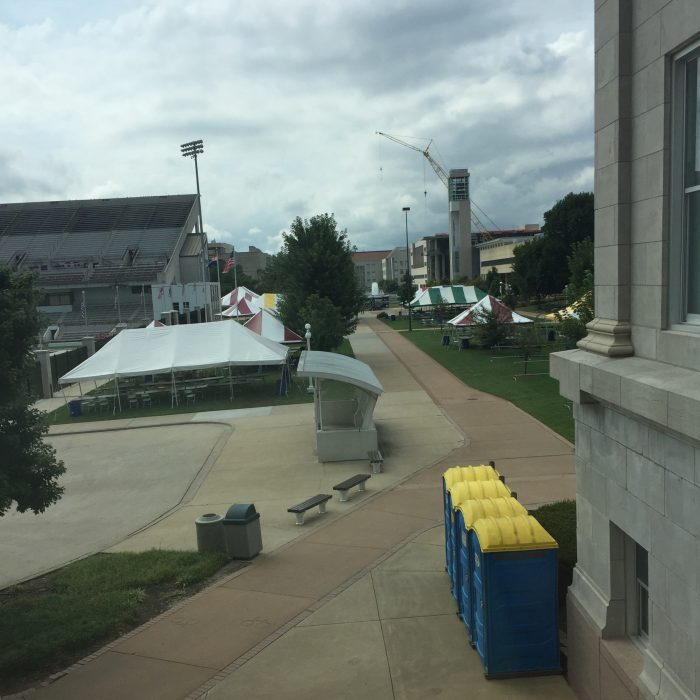 Tents at Missouri State University Bearfest Village