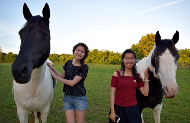 International Friends - horseback riding not required. Although it looks like they're having a nice time.